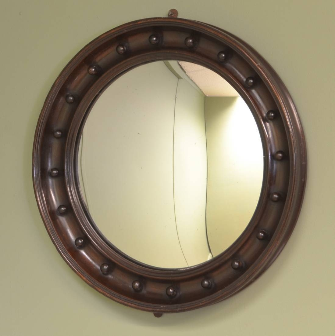 Decorative Edwardian Antique Convex Mirror - Antiques World with Decorative Convex Mirrors (Image 10 of 25)
