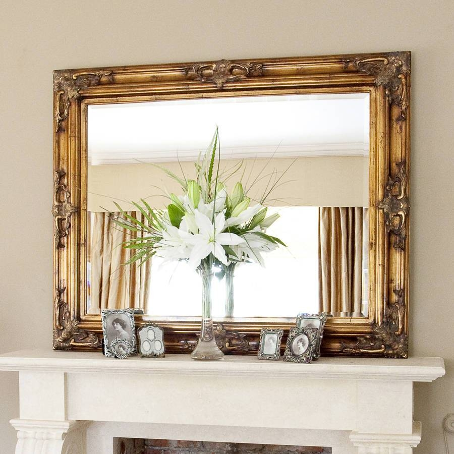 Decorative Gold Mirrors. Gold Decorative Framed Bevelled Wall pertaining to Ornate Gold Mirrors (Image 6 of 25)