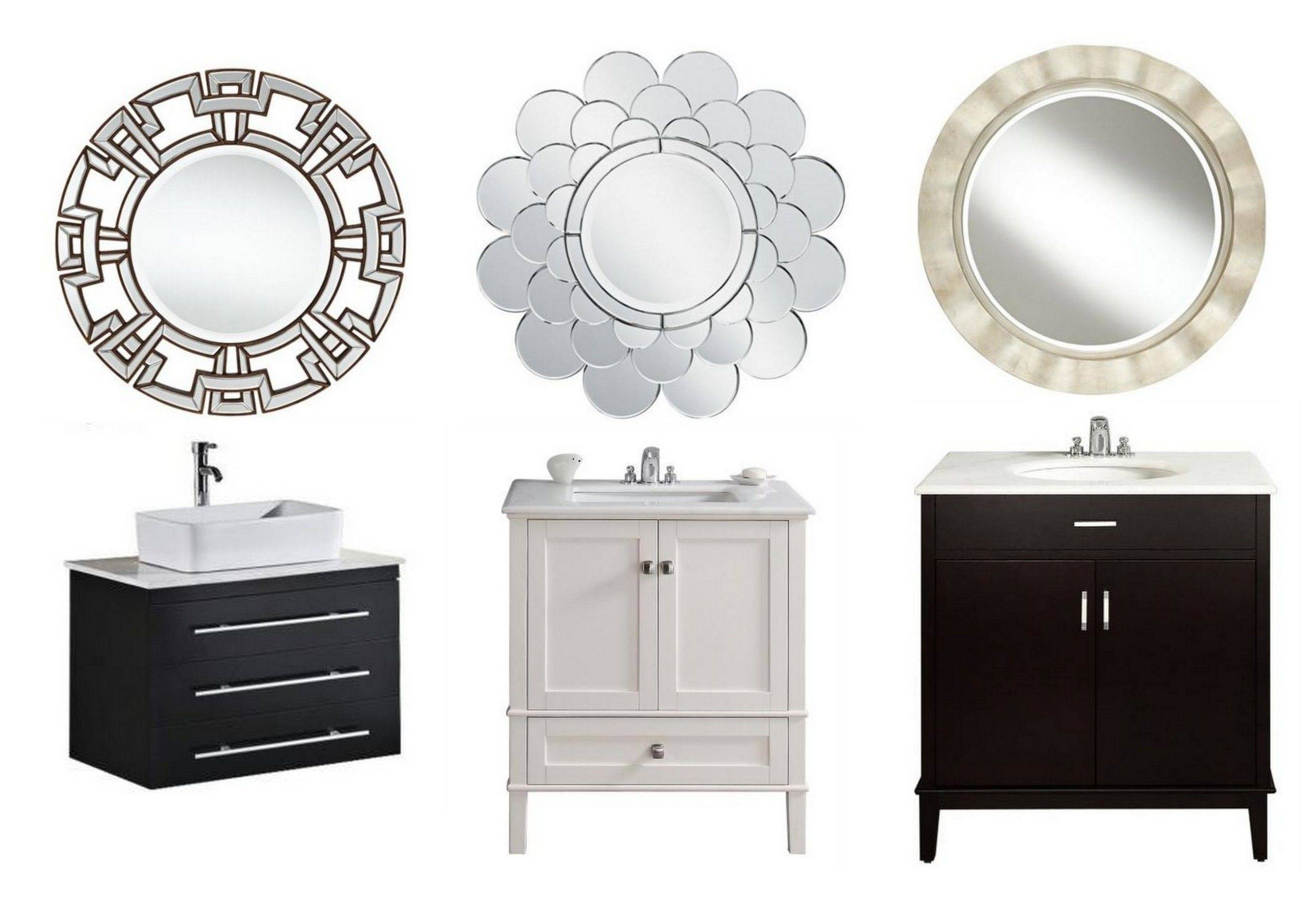 Decorative Mirrors For Bathroom – Harpsounds.co with White Decorative Mirrors (Image 12 of 25)