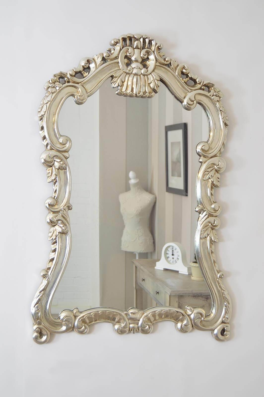Decorative Ornate Mirrors : Wall Vs Floor, Which One Better intended for Silver Ornate Wall Mirrors (Image 9 of 25)