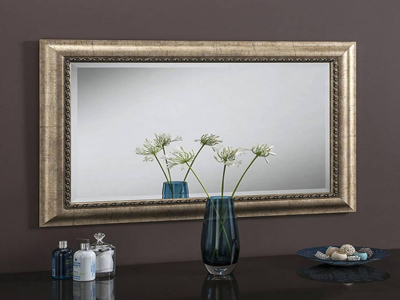 Decorative Wall Mirrors, Derative Wall Mirror Champagne X Cm in Champagne Mirrors (Image 12 of 25)