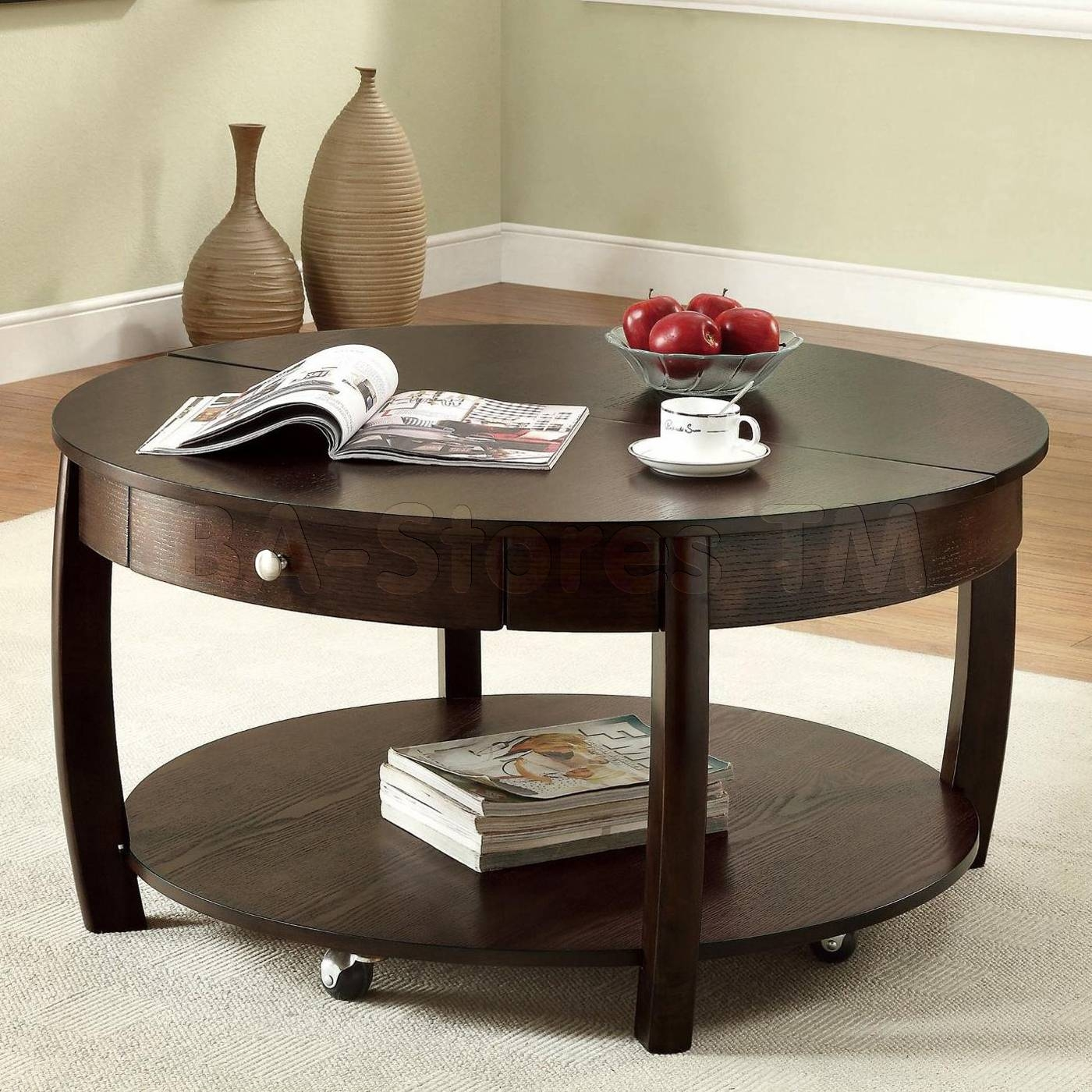Delightful Furnishing In Living Room Design Inspiration Shows intended for Round Coffee Tables With Storage (Image 15 of 30)