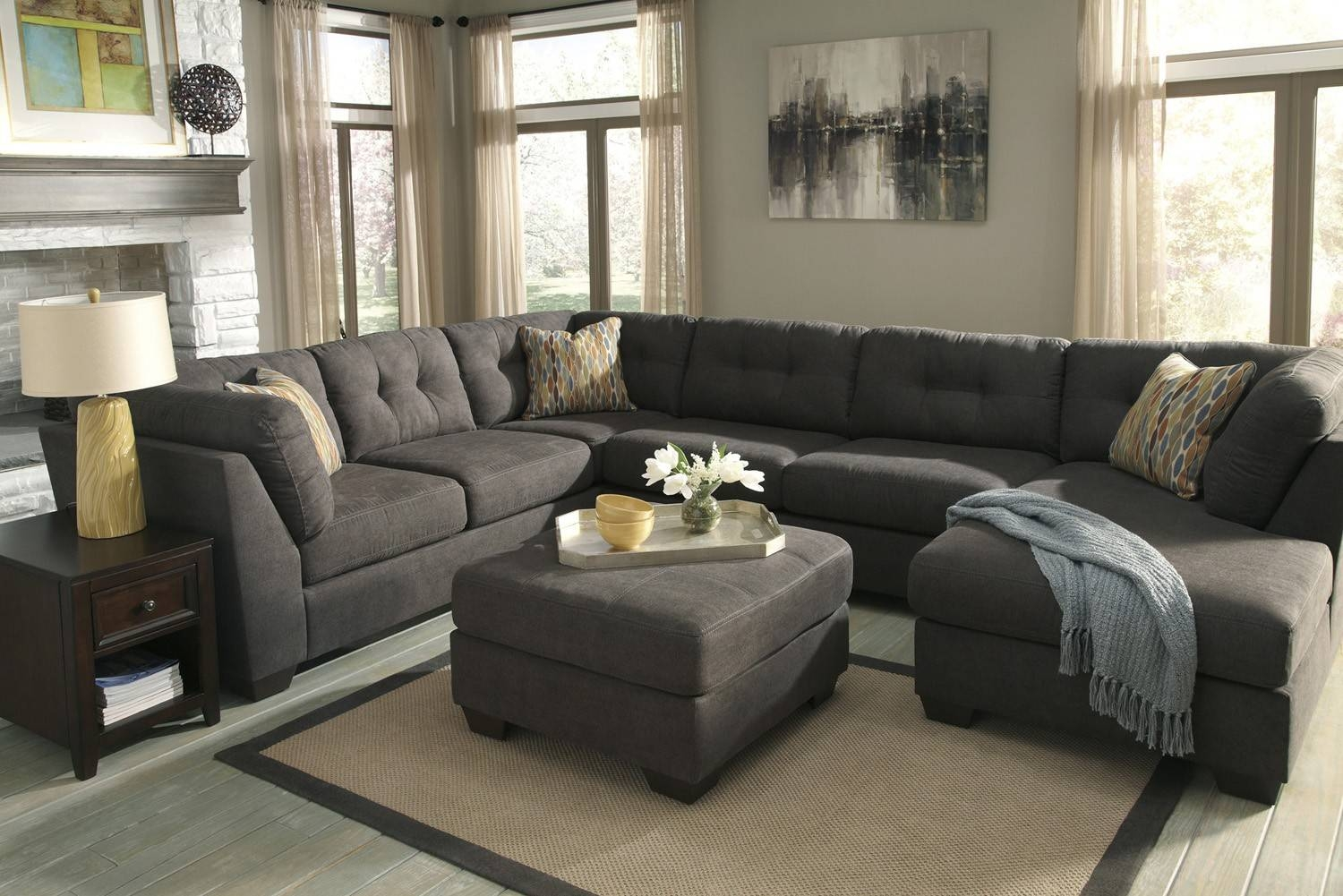 Delta City Steel 3-Piece Sectional Sofa With Left Arm Facing inside 3 Piece Sectional Sleeper Sofa (Image 13 of 30)