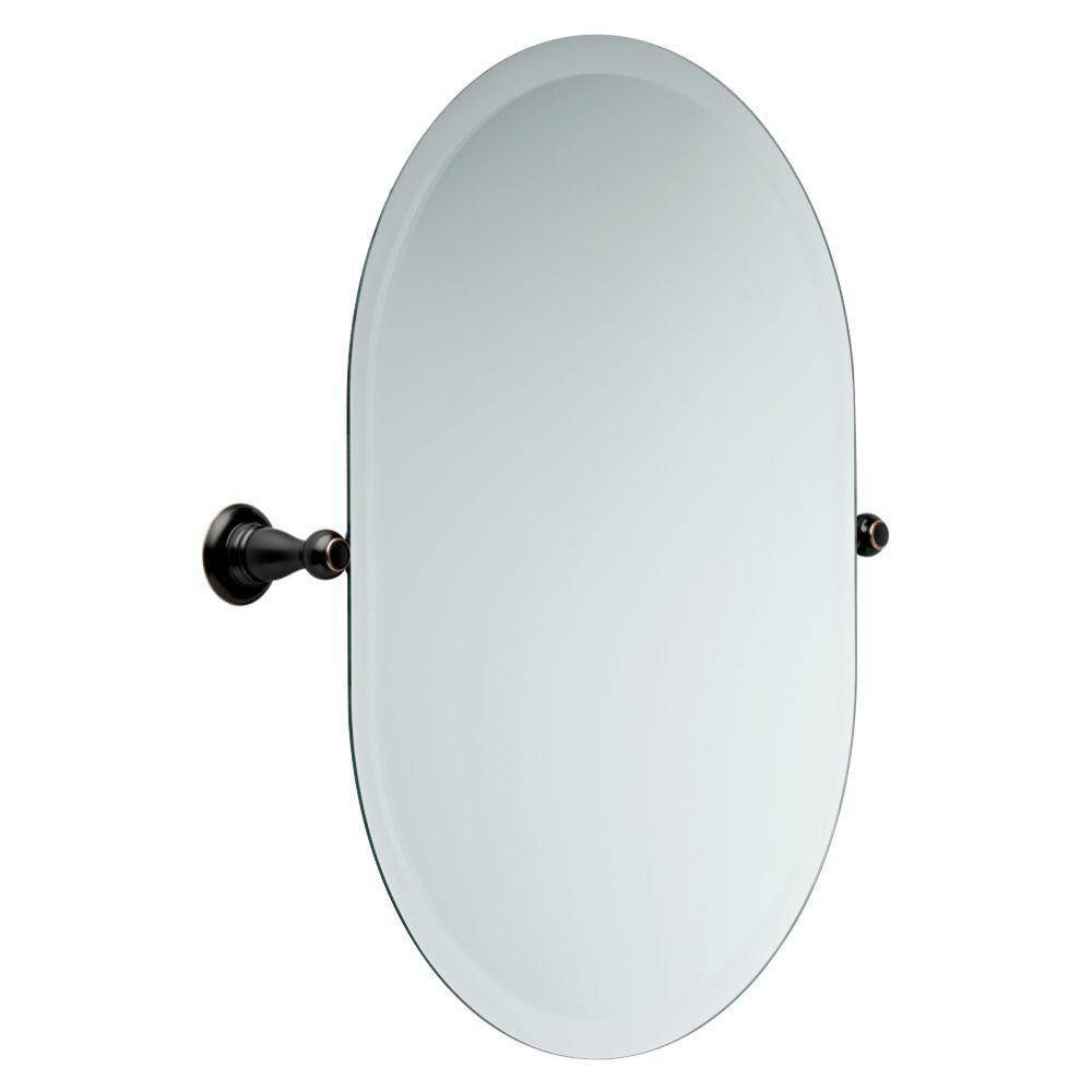 Delta Porter 26 In. X 23 In. Frameless Oval Bathroom Mirror With regarding Beveled Edge Oval Mirrors (Image 9 of 25)