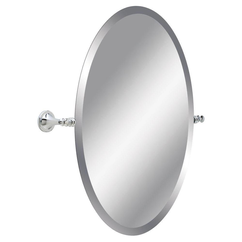 Delta Silverton 26 In. L X 24 In. W Wall Mirror In Chrome-132892 with regard to Beveled Edge Oval Mirrors (Image 10 of 25)