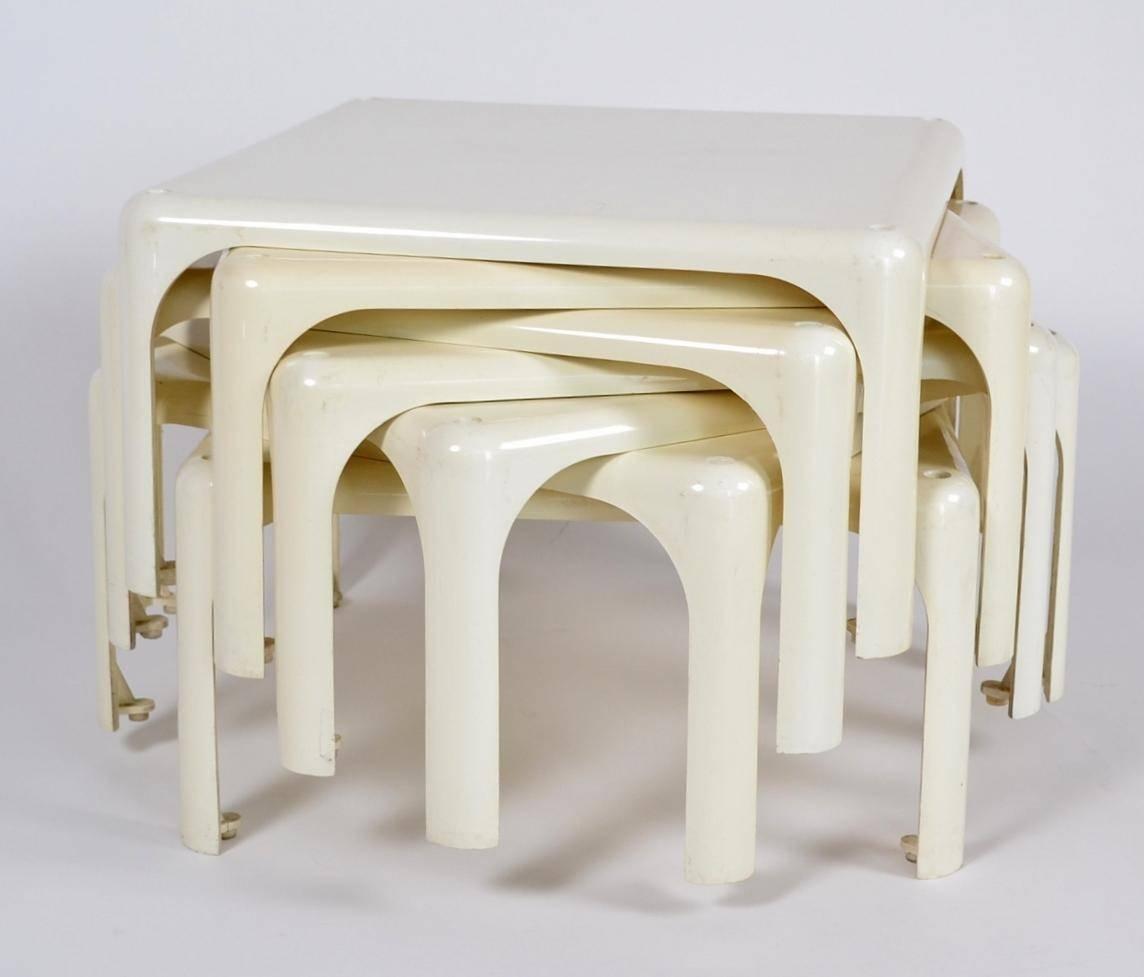 Demetrio 45 Stackable Coffee Table Setvico Magistretti For throughout Stackable Coffee Tables (Image 11 of 30)