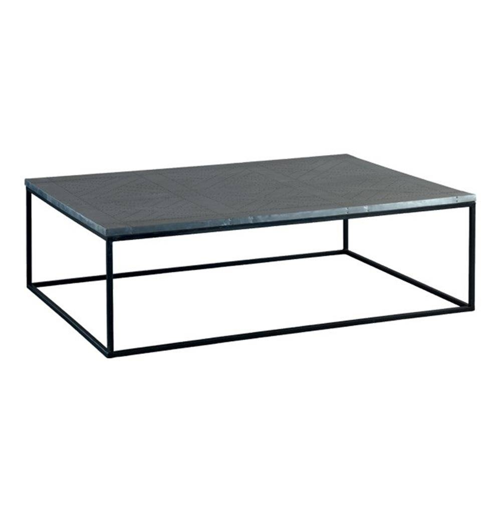 Deon Industrial Style Pattern Metal Rectangle Coffee Table | Kathy for Coffee Table Industrial Style (Image 14 of 30)