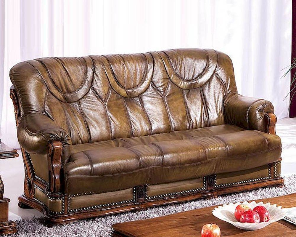 Design Leather Sofa Bed In Light Brown Finish 33Ss182 pertaining to European Leather Sofas (Image 3 of 30)