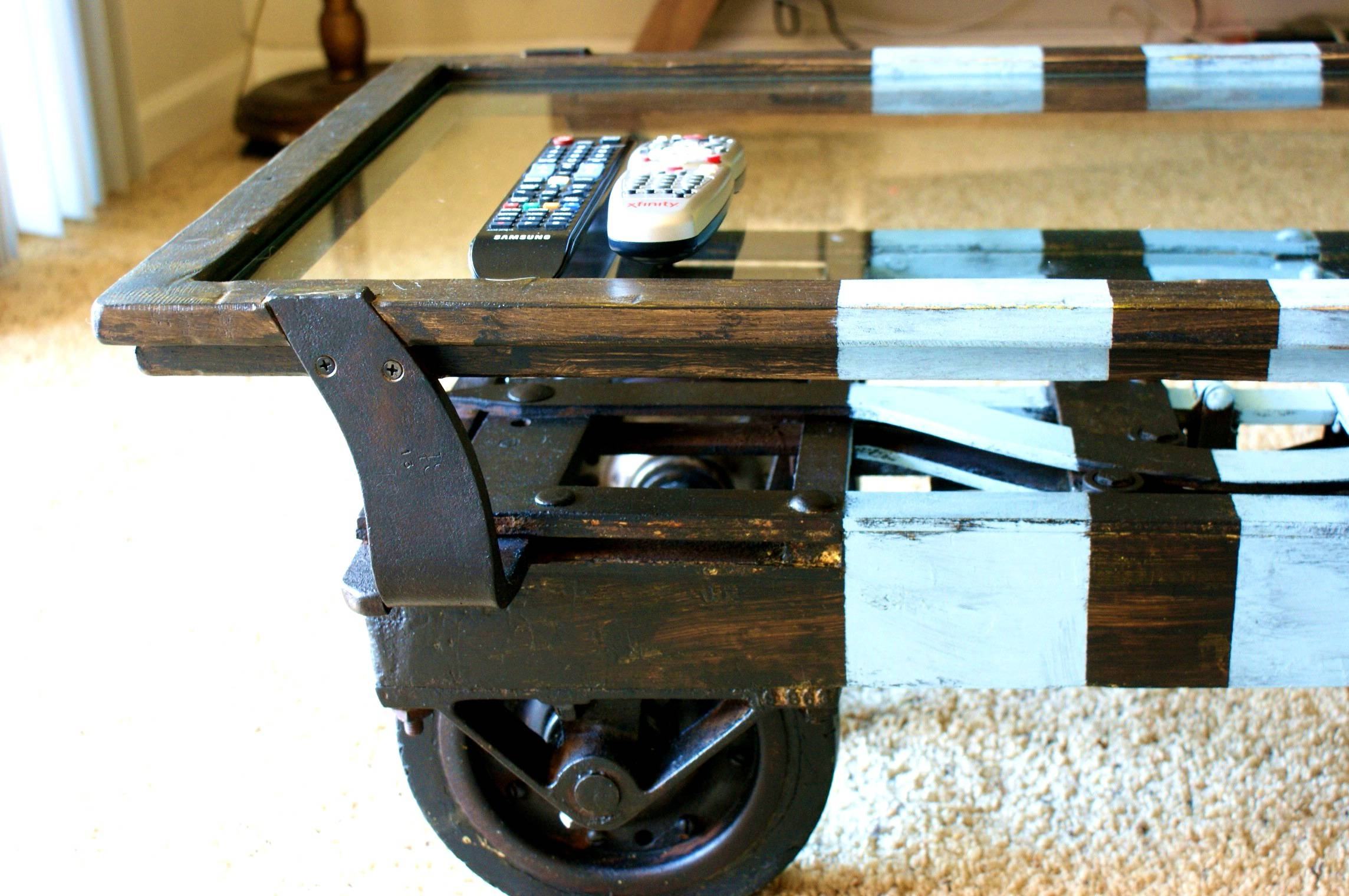 Design Of Rustic Coffee Table On Wheels With Coffee Tables Design inside Rustic Coffee Table With Wheels (Image 6 of 30)