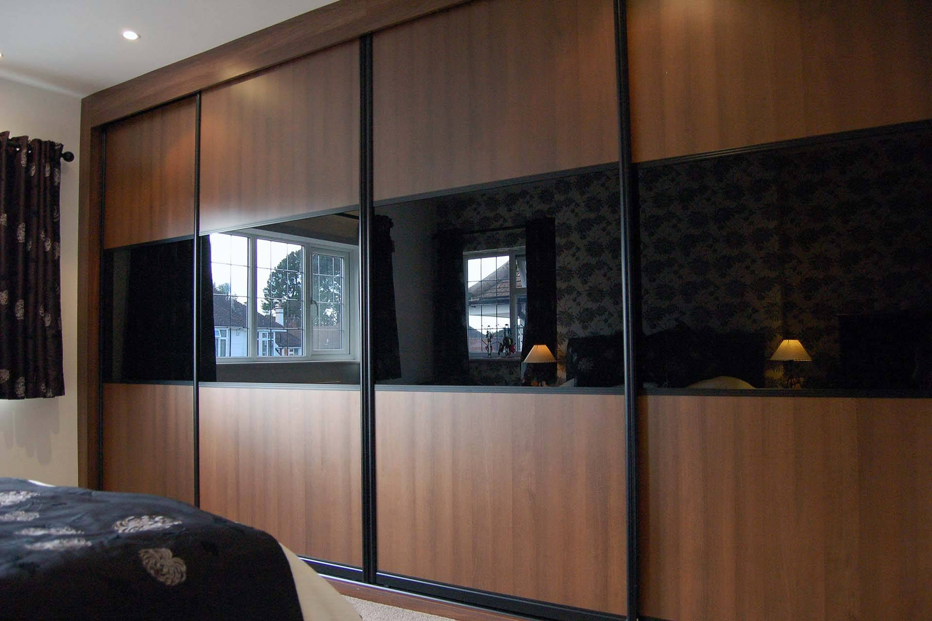 Design Your Own Sliding Wardrobe Doors Online – Custom World Bedrooms In Black Wood Wardrobes (View 2 of 15)