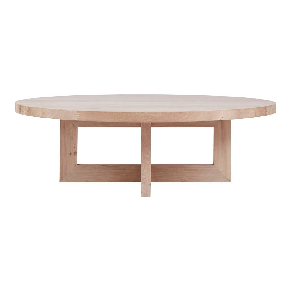 Designer Bondi Round Oak Coffee Table - Solid Timber Accent Tables pertaining to Round Oak Coffee Tables (Image 7 of 30)
