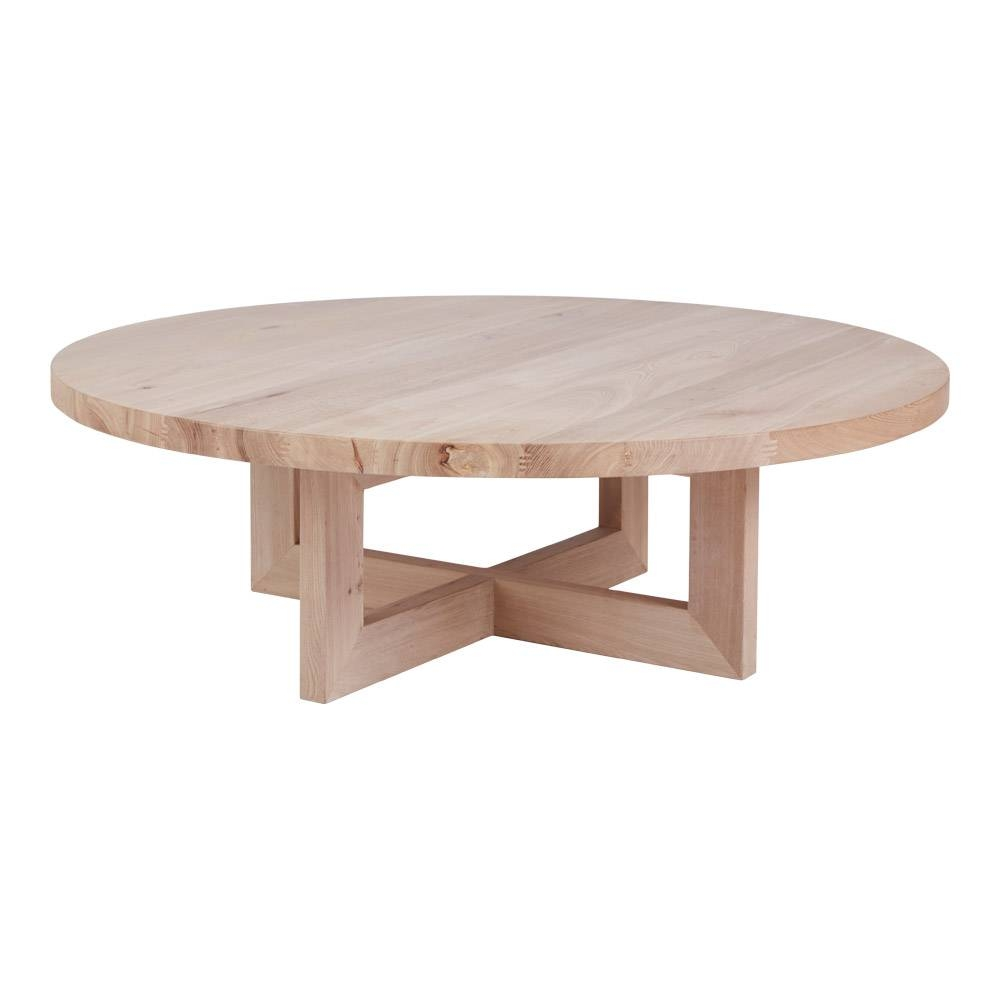 Designer Bondi Round Oak Coffee Table - Solid Timber Accent Tables throughout Round Oak Coffee Tables (Image 8 of 30)
