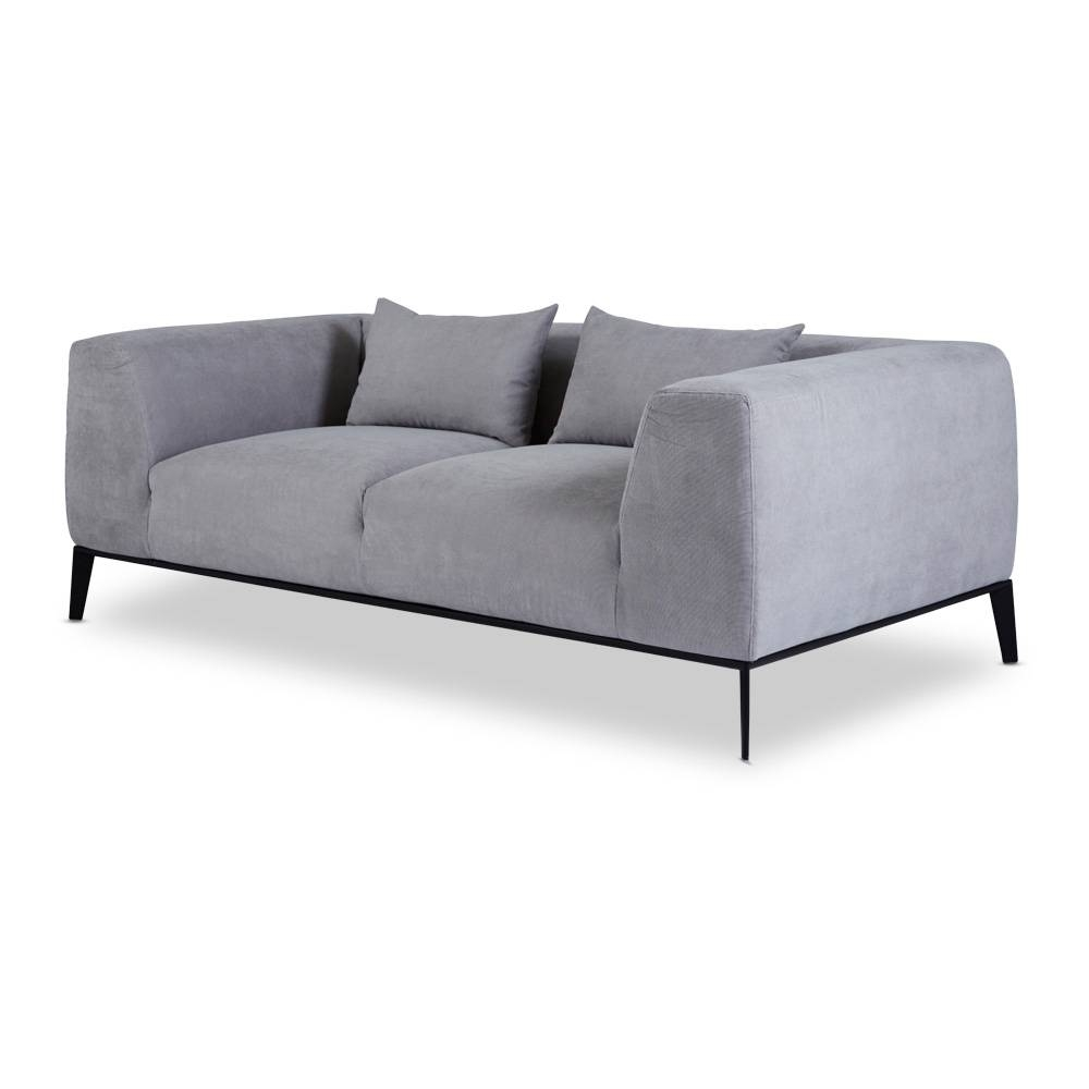 Designer Danielle Grey Sofa- 2/3 Seater Scandinavian in Modern 3 Seater Sofas (Image 8 of 30)