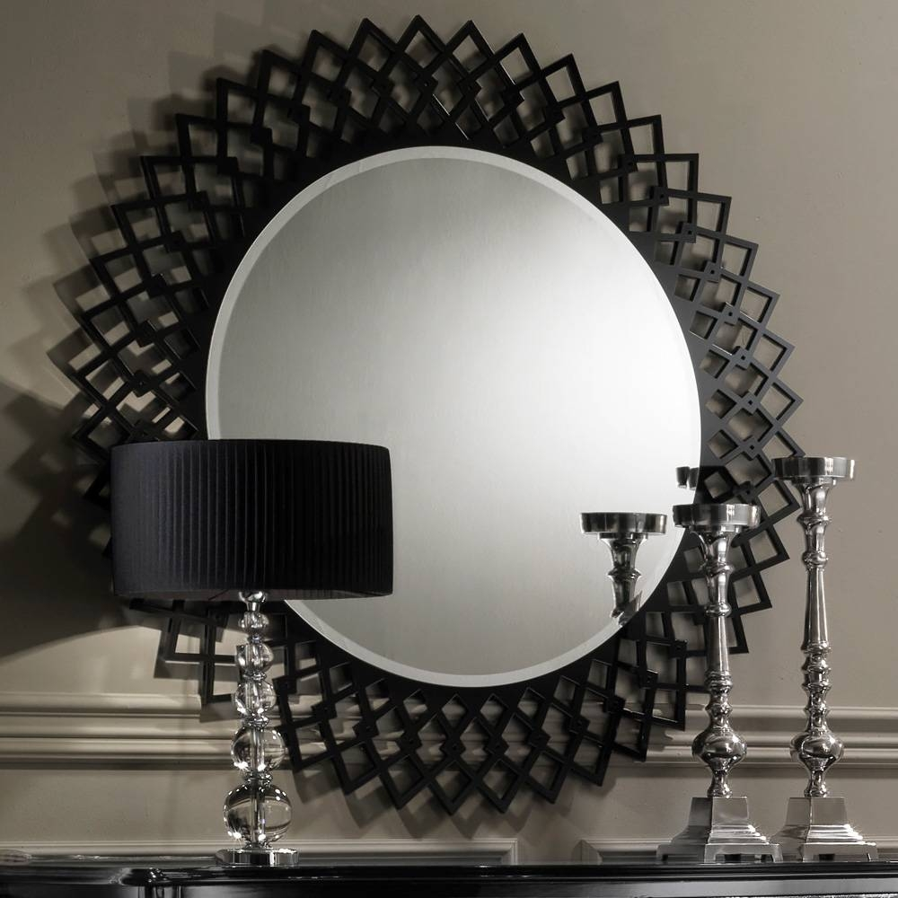 Designer Mirrors throughout Black Round Mirrors (Image 9 of 25)