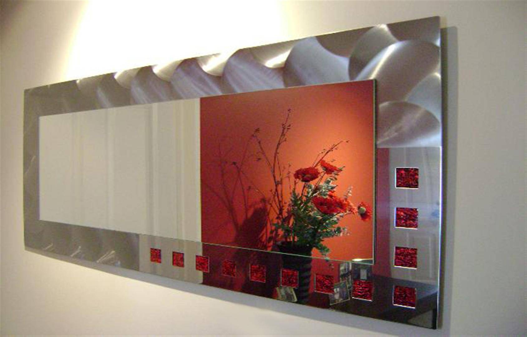 Designer Stainless Steel Mirrors Archives - Freestyle Mirrors inside Red Mirrors (Image 12 of 25)