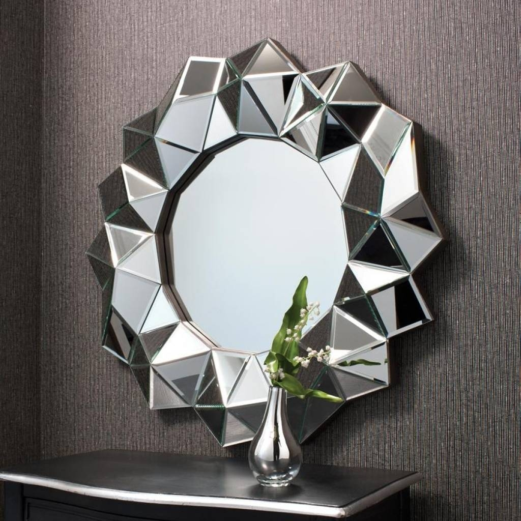 Designer Wall Mirrors Contemporary Wall Mirrors Decorative Large Pertaining To Designer Round Mirrors (View 13 of 25)