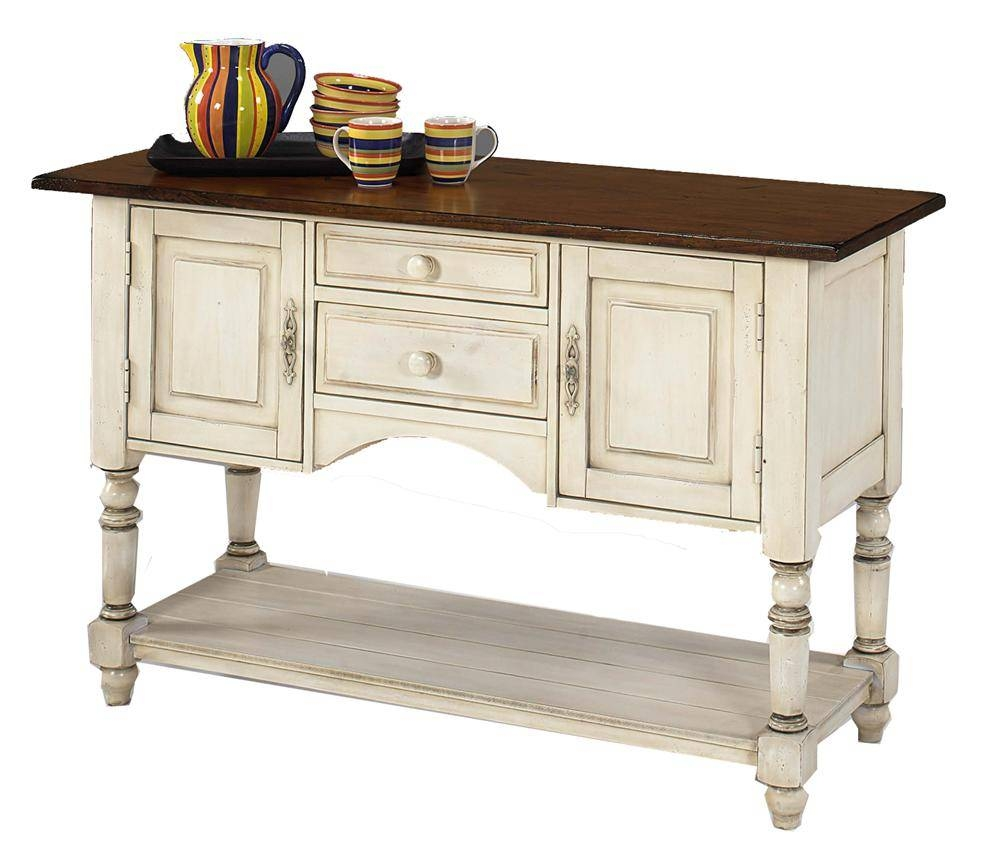 Designmaster Tables Barnstead Sideboard With Old World White Base within White Sideboard Furniture (Image 8 of 30)