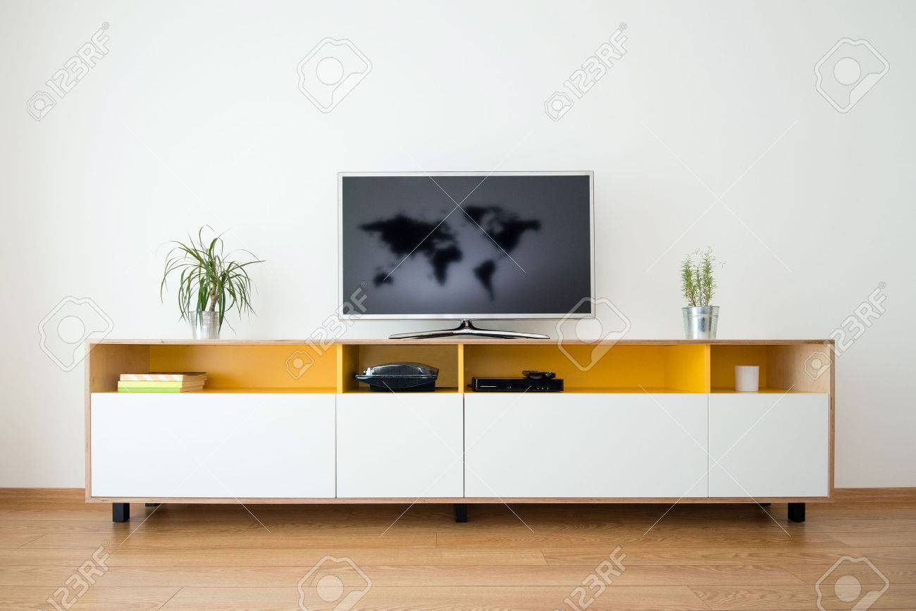 Detail Of Modern Living-Room - Wall With Tv Stock Photo, Picture throughout Modern Living Room Sideboards (Image 12 of 30)