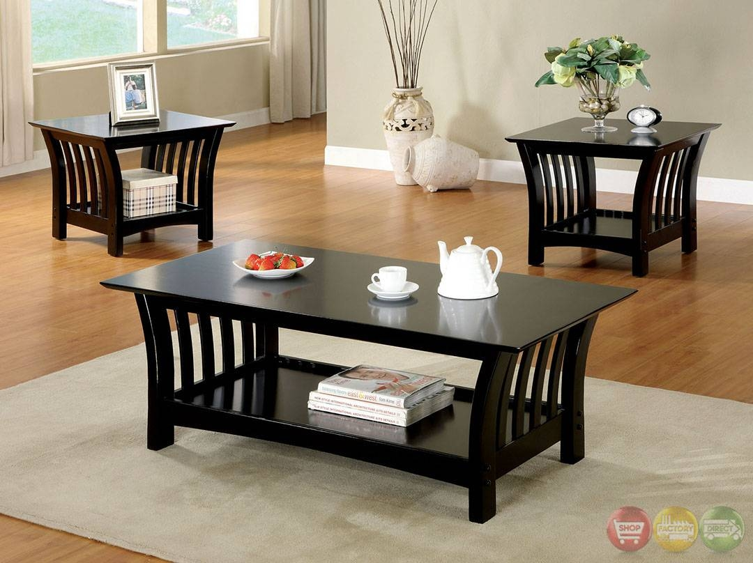 Details About 3 Pc Traditional Coffee End Table Set Living Room with regard to 2 Piece Coffee Table Sets (Image 17 of 30)