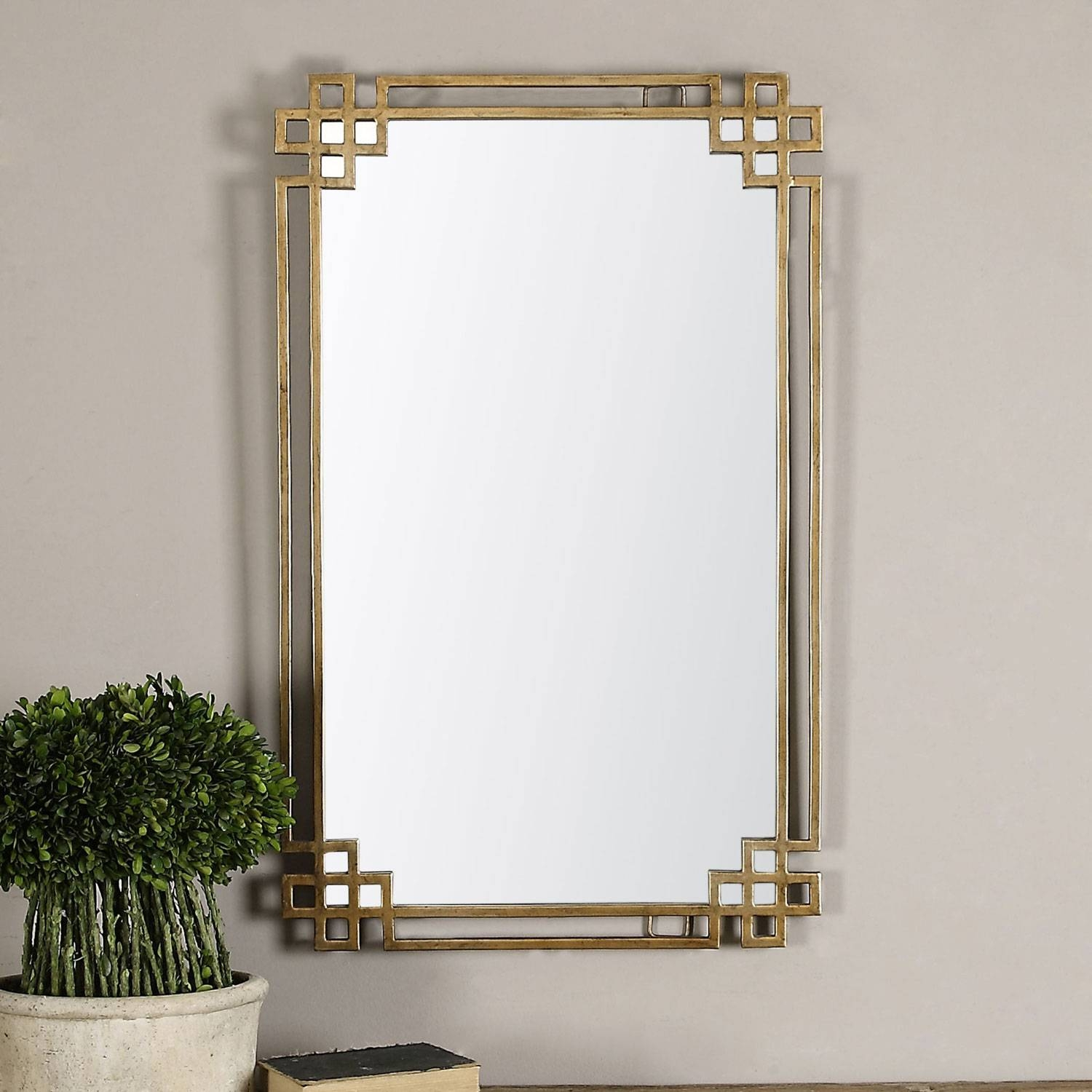 Devoll Antique Gold Mirror Uttermost Wall Mirror Mirrors Home Decor throughout Antique Gold Mirrors (Image 12 of 25)