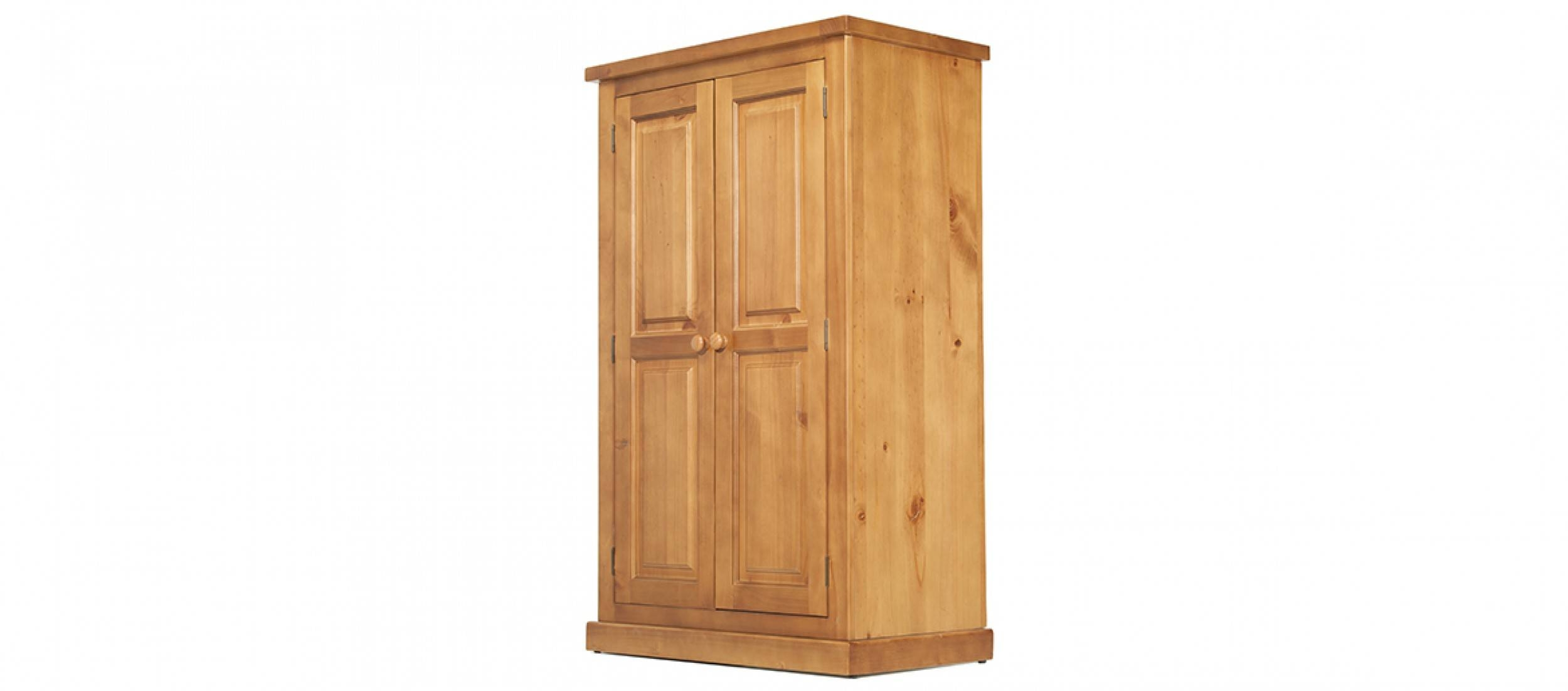 Devon Pine Kids Double Wardrobe | Quercus Living in Kids Pine Wardrobes (Image 4 of 15)