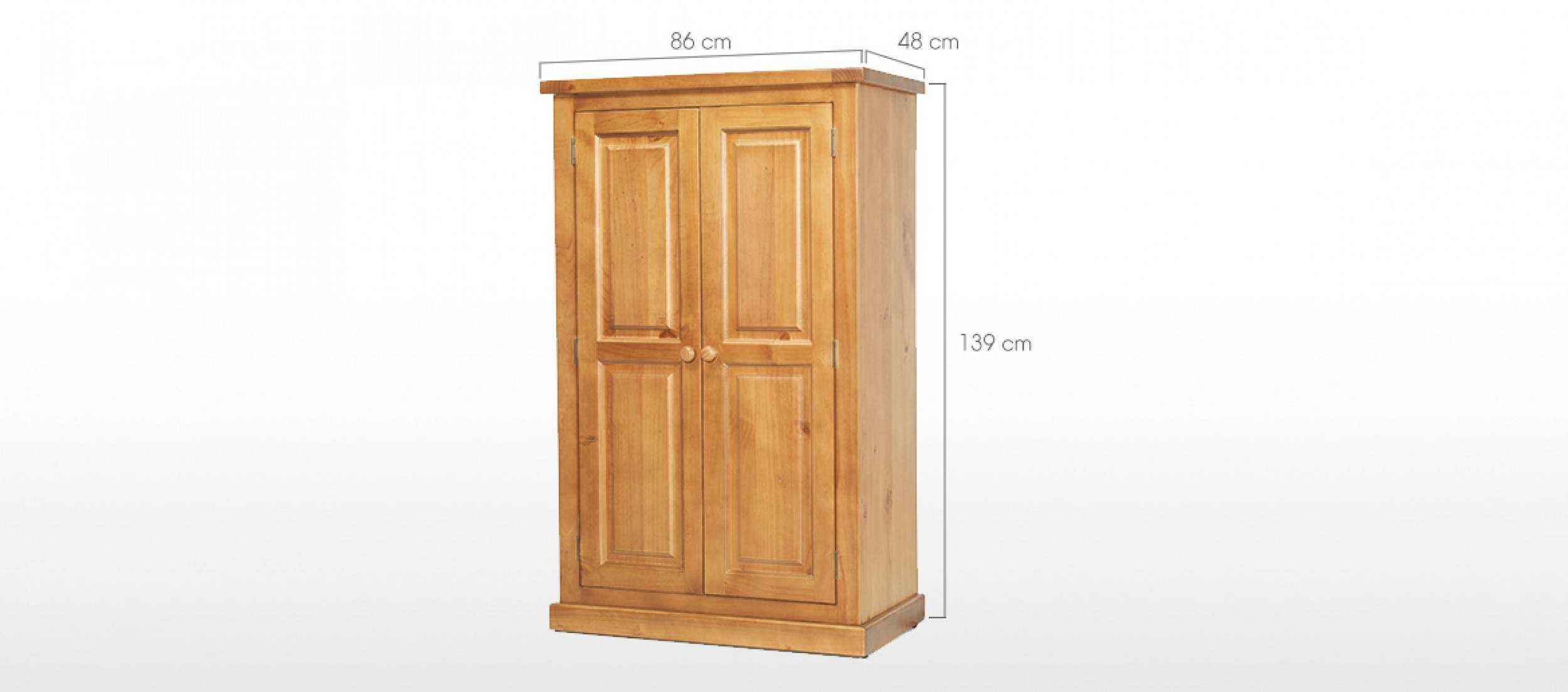 Devon Pine Kids Double Wardrobe | Quercus Living with Kids Pine Wardrobes (Image 5 of 15)