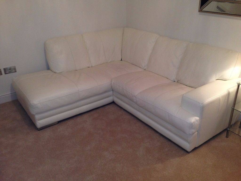 Dfs White Leather Corner Sofa & Two Seater Sofa Combo | In inside White Leather Corner Sofa (Image 8 of 30)