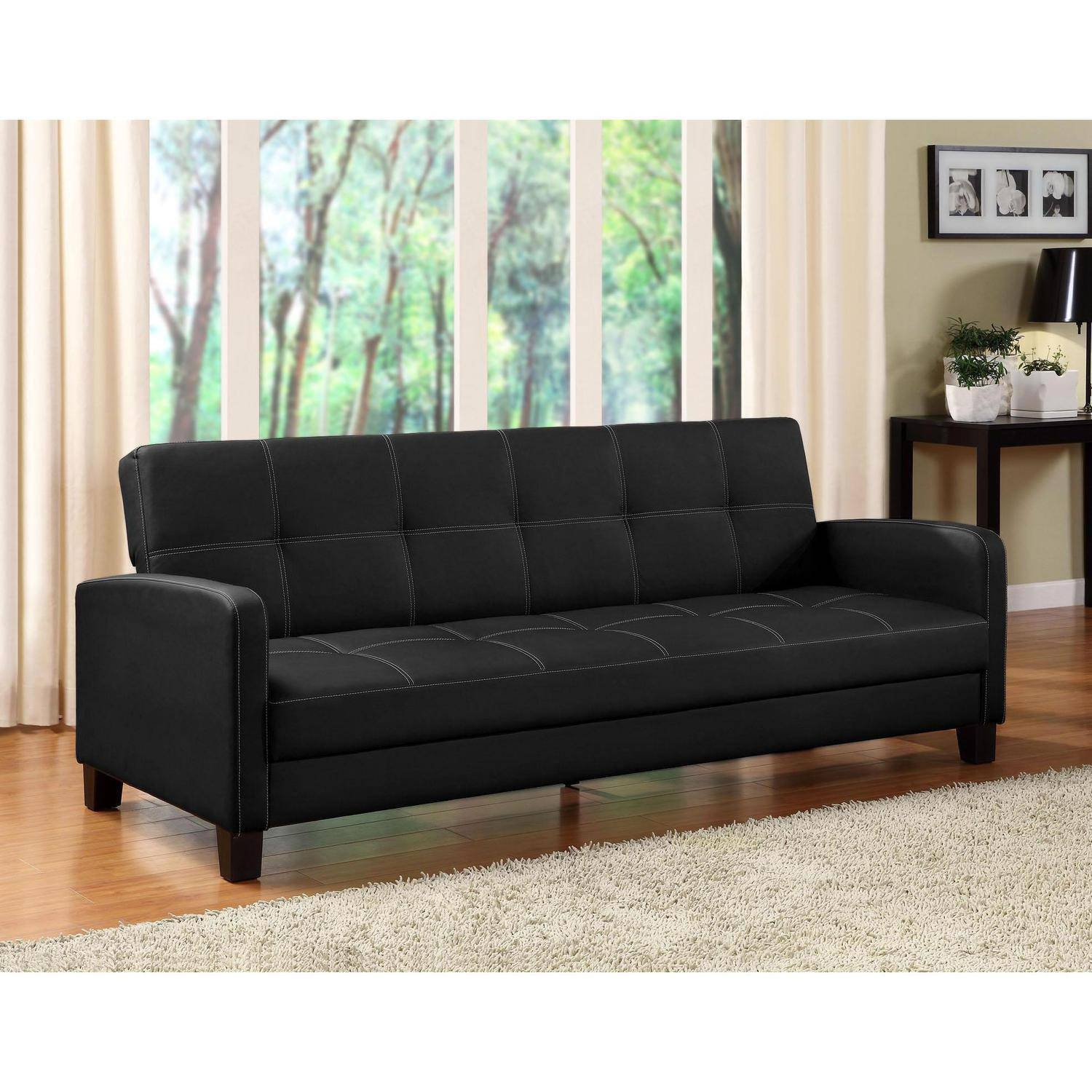 Dhp Delaney Sofa Sleeper, Multiple Colors - Walmart throughout Mini Sofa Sleepers (Image 3 of 30)