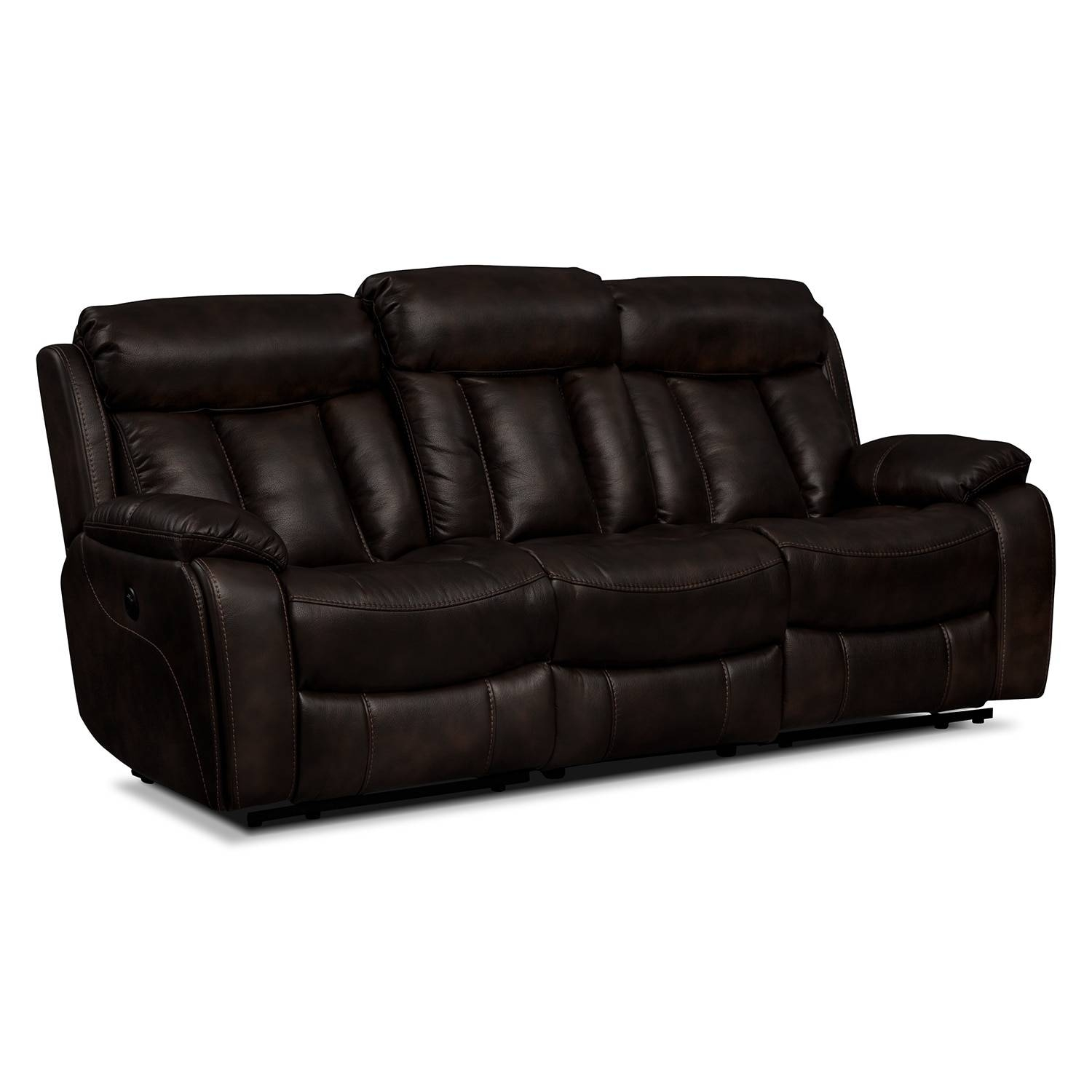 Diablo Power Reclining Sofa - Walnut | American Signature Furniture inside Recliner Sofa Chairs (Image 12 of 30)