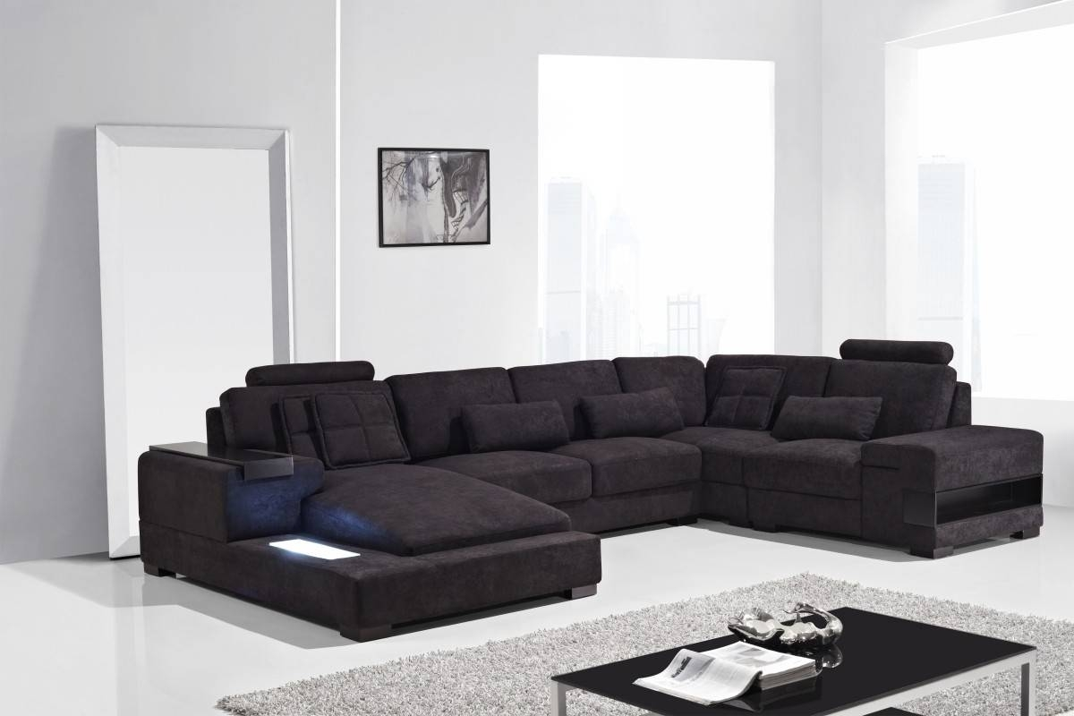 Diamond Modern Fabric Sectional Sofa pertaining to Cloth Sectional Sofas (Image 5 of 30)