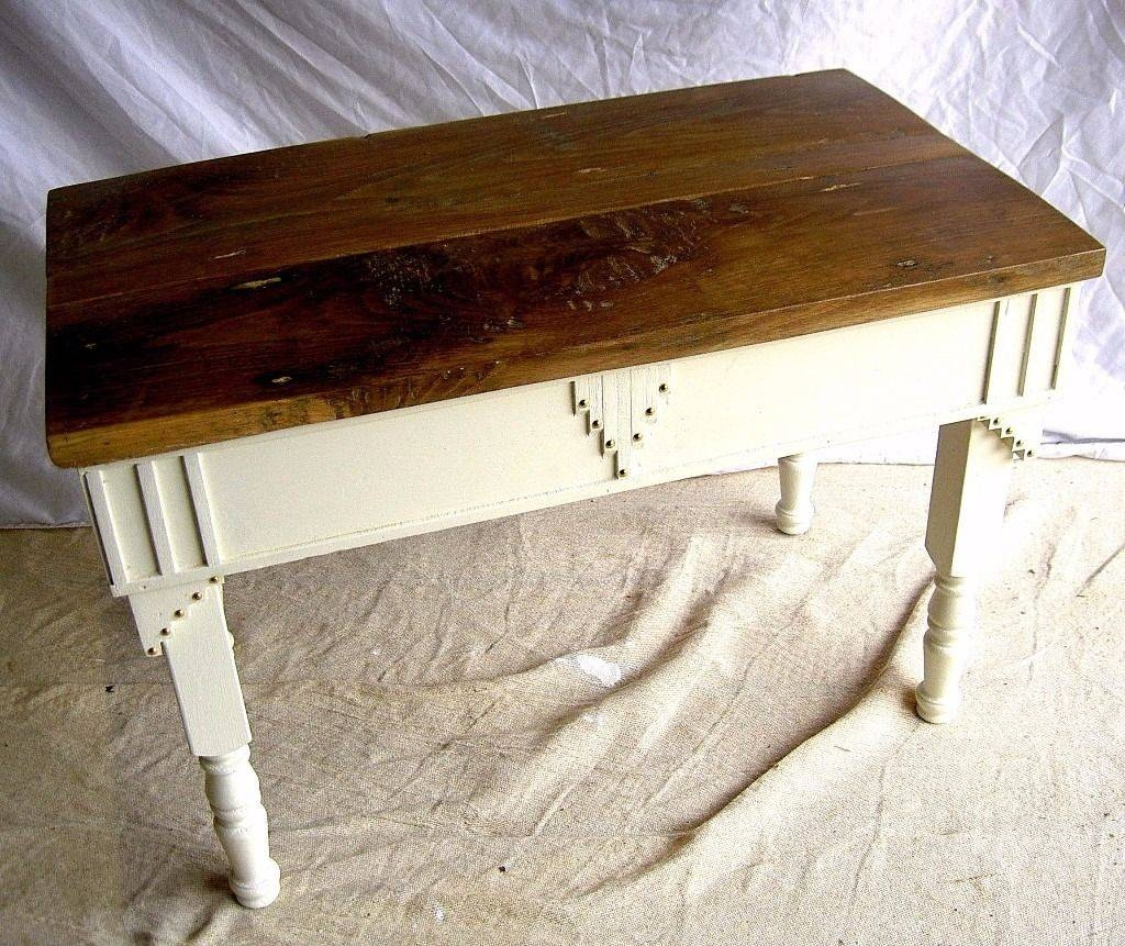 Dining / Living / Shabby Chic Bespoke Coffee Table Oak Top Cottage with regard to Bespoke Coffee Tables (Image 24 of 30)