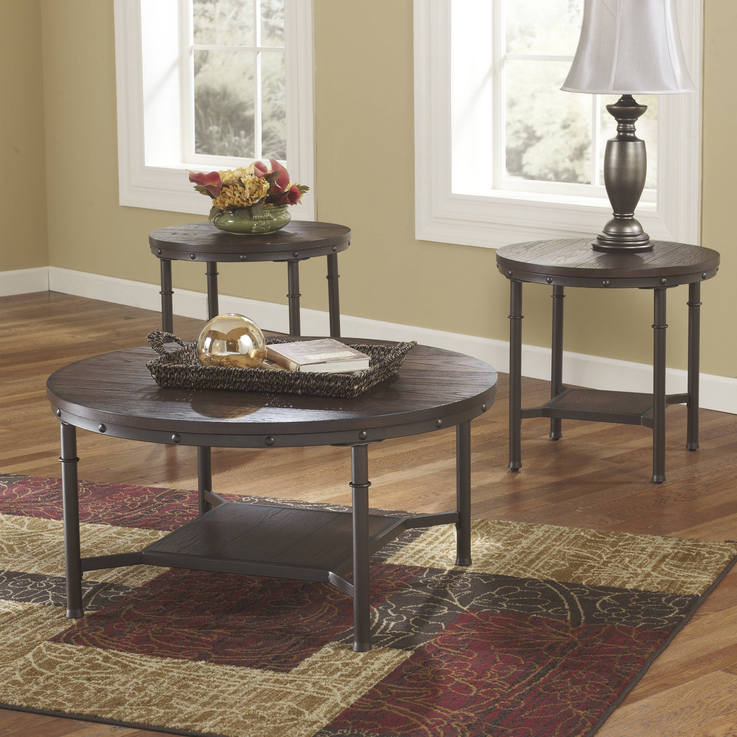 Dining Room : 2017 Modern Wooden Coffee Table Sets Small Wooden for Round Red Coffee Tables (Image 7 of 30)
