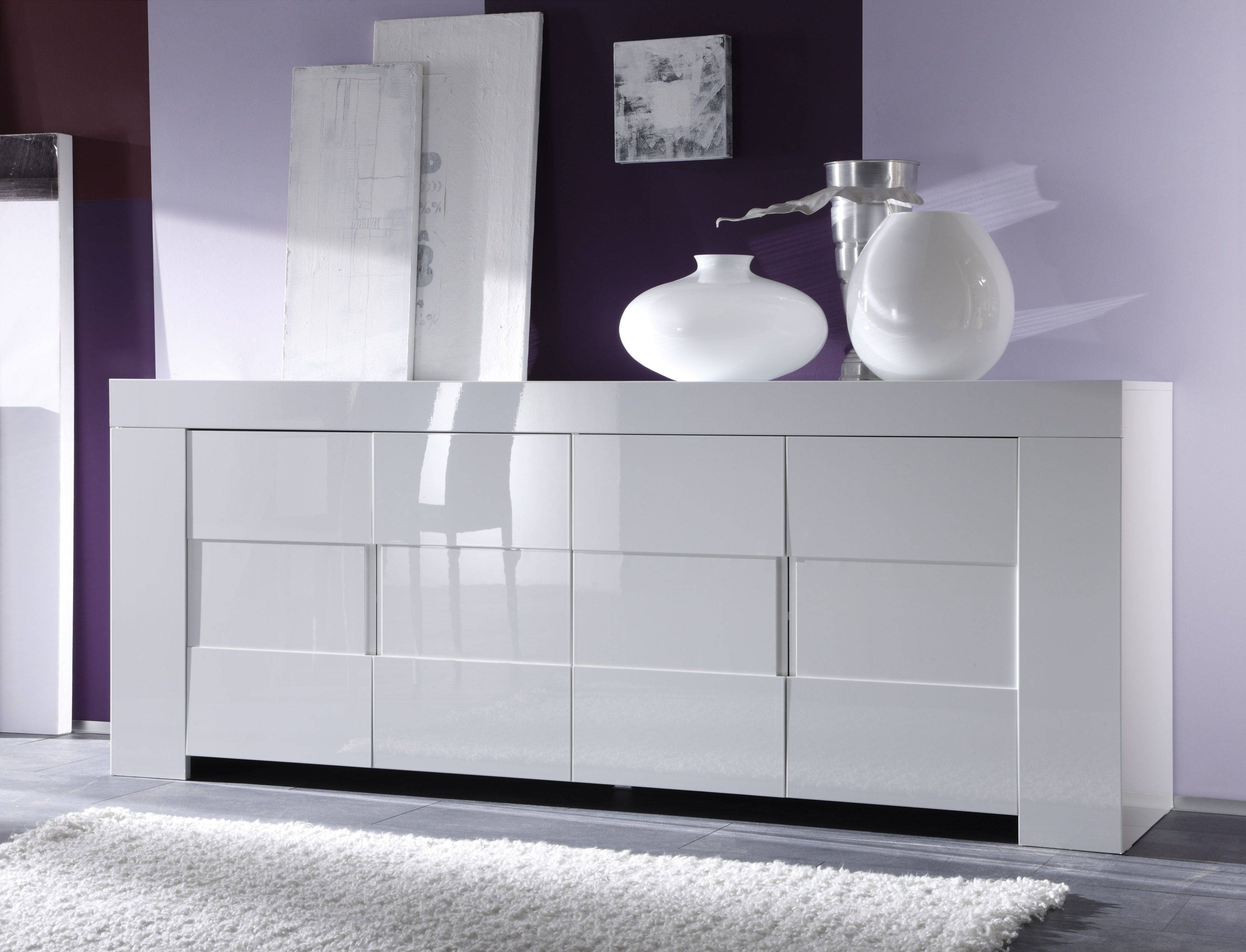 Dining Room Buffets, Kitchen Sideboards, Server And Storage Units regarding Contemporary White Sideboards (Image 9 of 30)