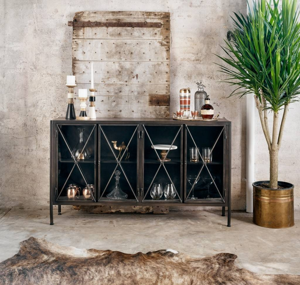Dining Room Sideboards & Buffet Decor | Zin Home Blog inside Metal Sideboard Furniture (Image 12 of 30)