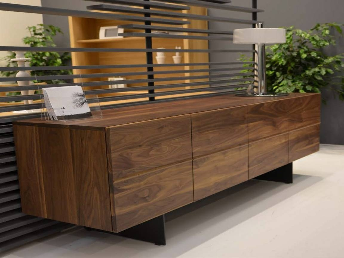 Dining Shelf, Contemporary Walnut Modern Sideboards Walnut within Contemporary Sideboards (Image 12 of 30)