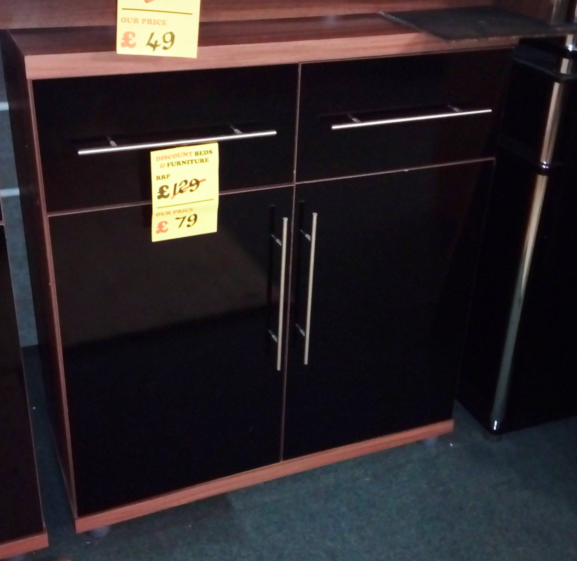 Discounted Nests Of Tables, Cabinet Furniture, Occasional Pieces regarding Black and Walnut Sideboards (Image 14 of 30)