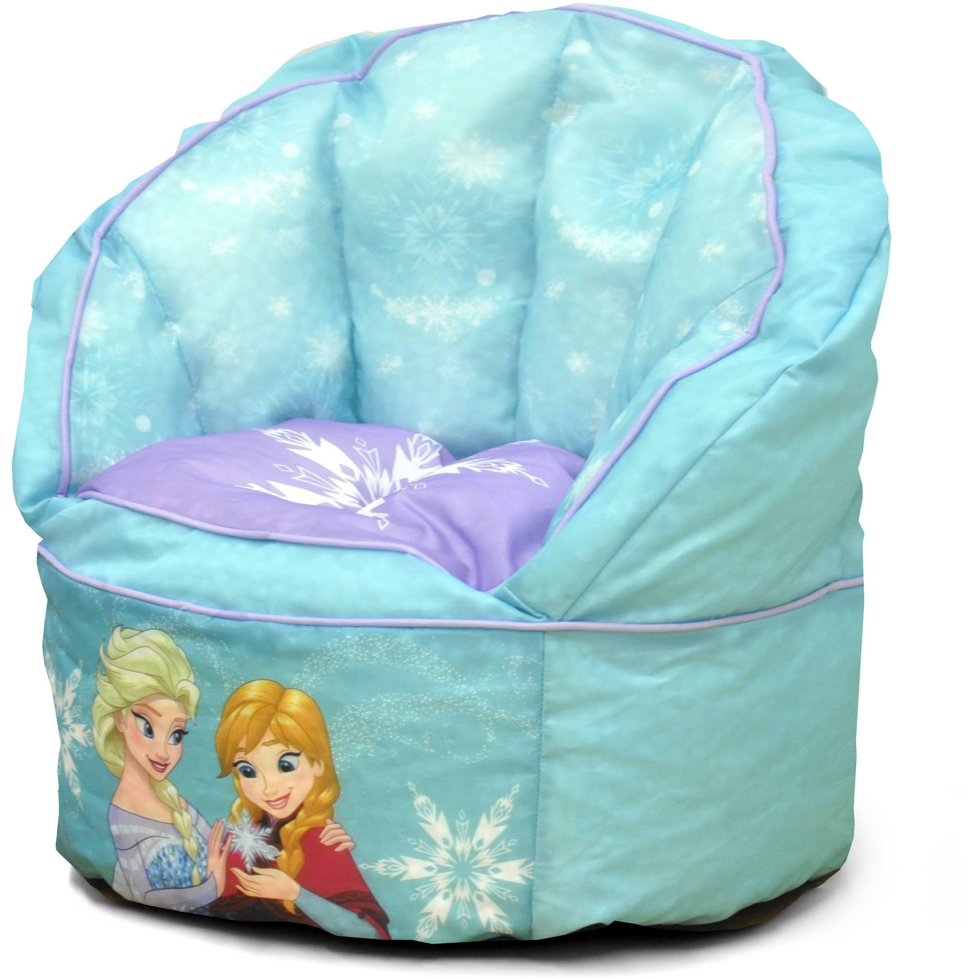 Disney Frozen Sofa Bean Bag Chair With Piping - Walmart for Disney Sofa Chairs (Image 3 of 15)