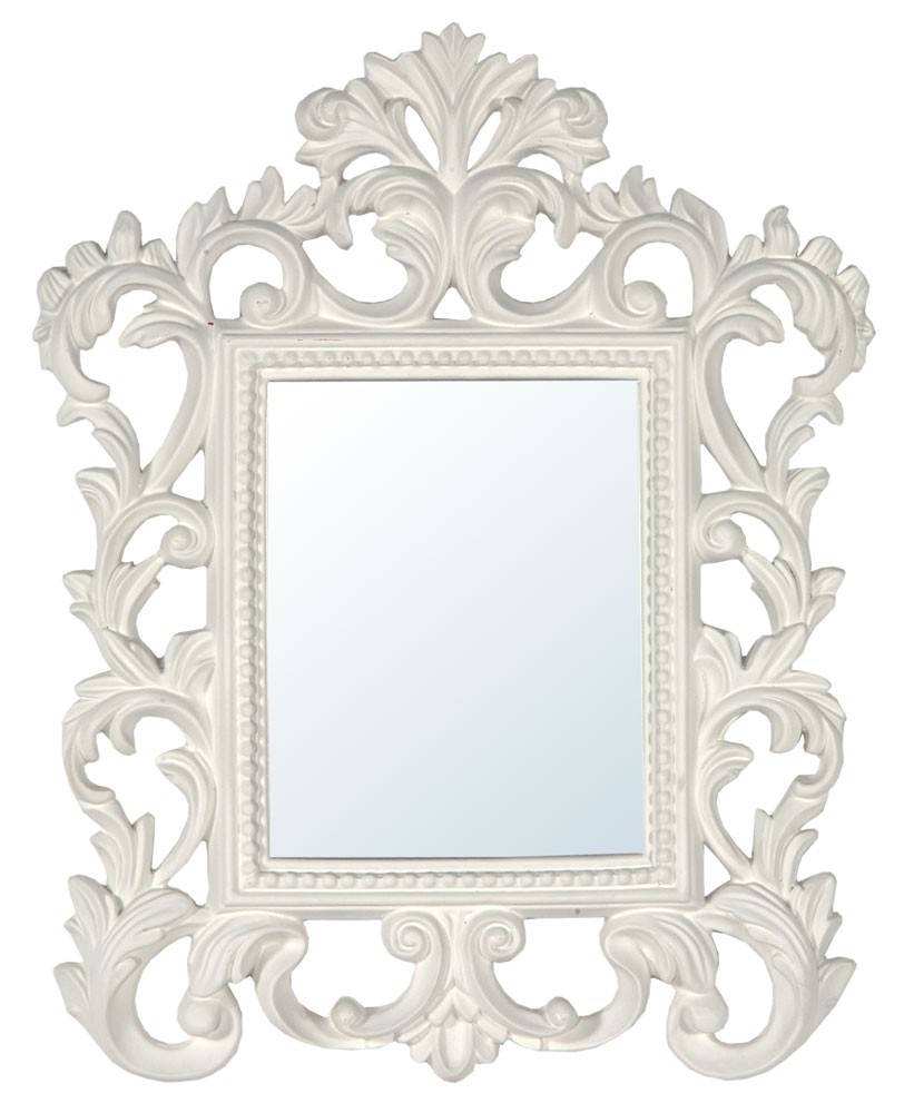Distinct White Mirrors - In Decors with regard to White Antique Mirrors (Image 18 of 25)