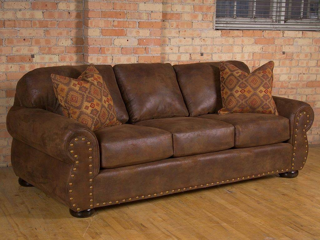 Distressed Leather Sofa pertaining to Vintage Leather Sofa Beds (Image 12 of 30)