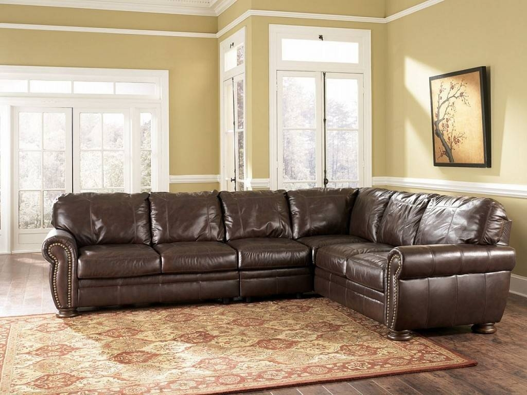 Distressed Leather Sofa Sectional : Home And Garden Decor - Best within Quality Sectional Sofa (Image 2 of 30)