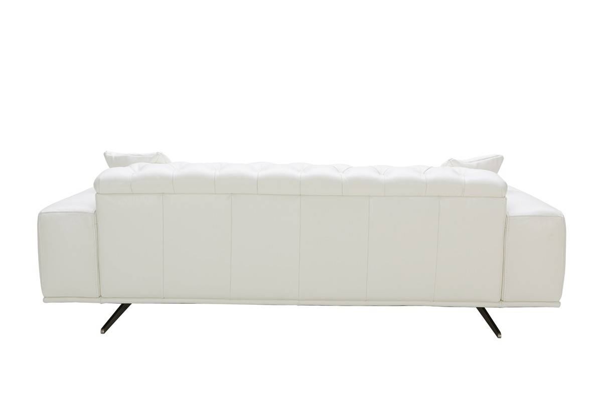 Divani Casa Bartlett Modern White Leather Sofa with regard to White Leather Sofas (Image 6 of 30)