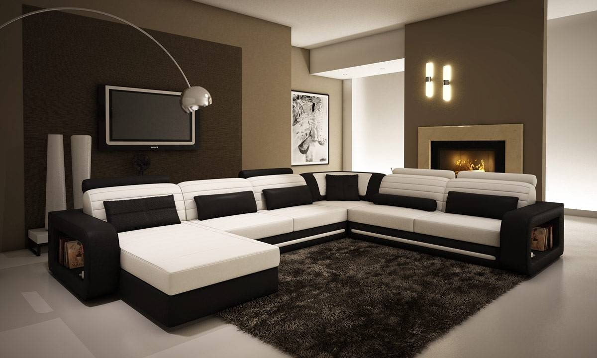 Divani Casa Fine Modern Sofas throughout Black and White Sofas (Image 11 of 30)