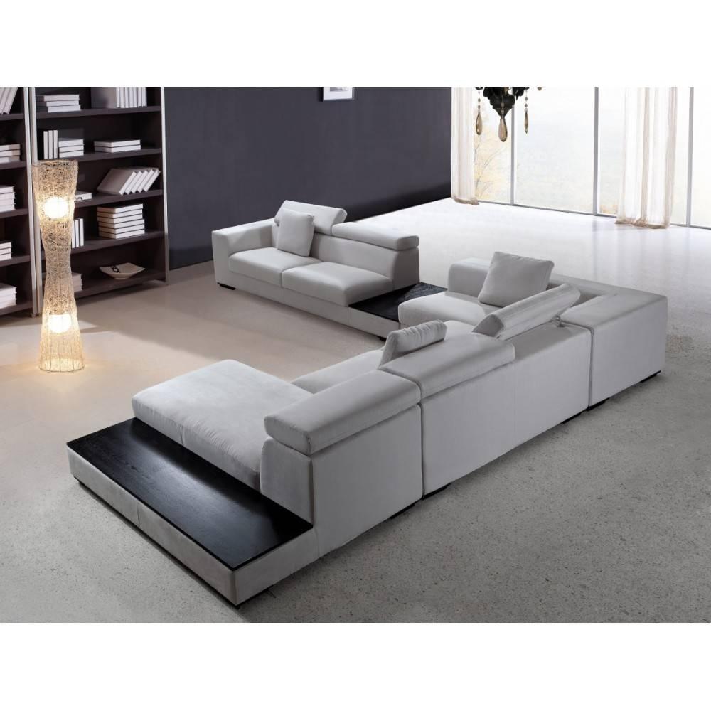 Divani Casa Forte - Modern Modular Fabric Sectional Sofa, Vig for Fabric Sectional Sofa (Image 7 of 30)