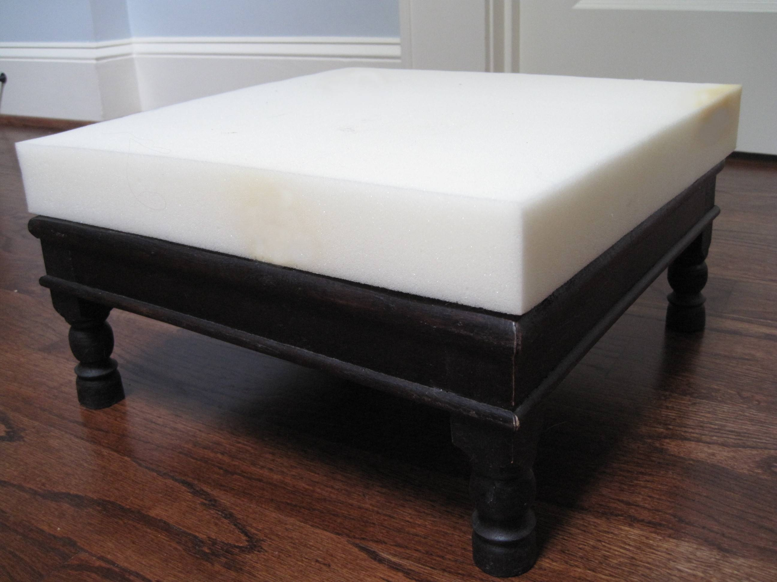 Diy: A No-Sew Upholstered Footstool | Tamara Heather Interior Design with regard to Upholstered Footstools (Image 4 of 30)