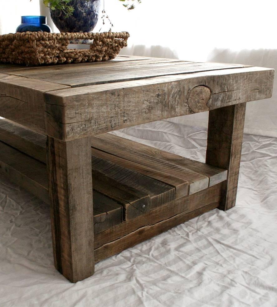 Diy Barnwood Coffee Table | Home Design Ideas in Rustic Barnwood Coffee Tables (Image 13 of 30)