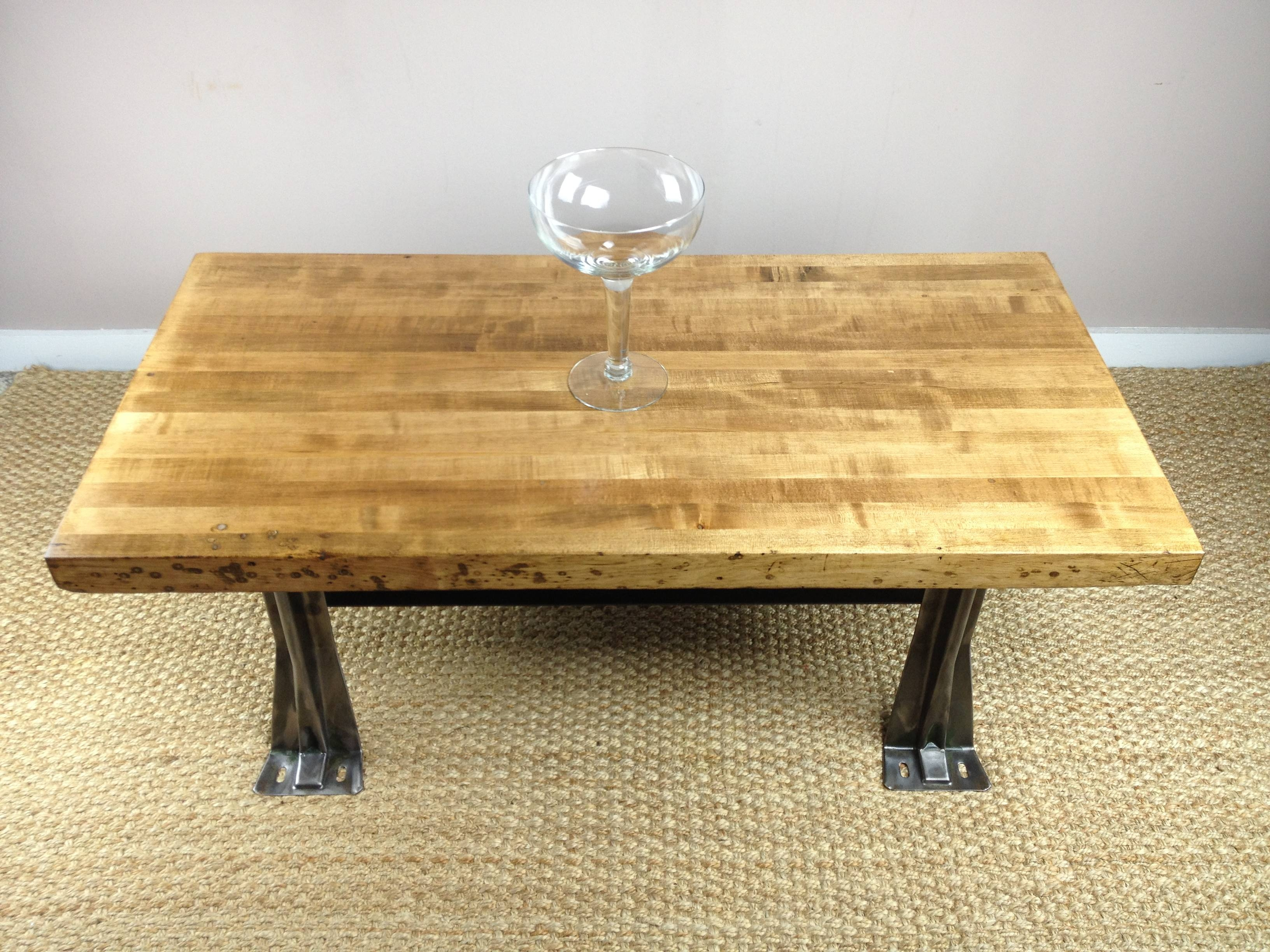 Diy Custom Square Low Coffee Table Using Reclaimed Wood Top And in Low Square Wooden Coffee Tables (Image 14 of 30)