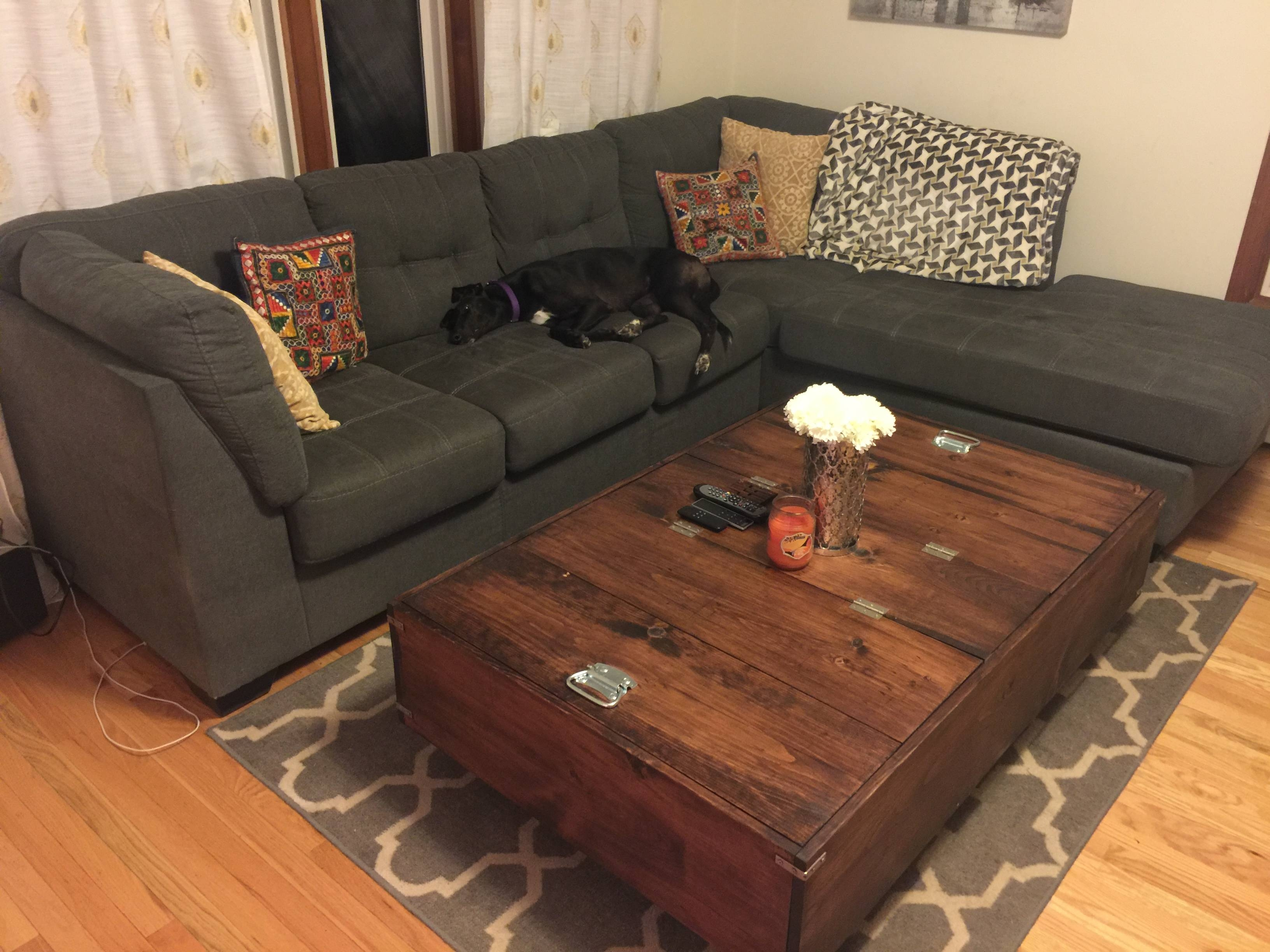 Diy Large Coffee Table With Storage – Album On Imgur Intended For Large Coffee Table With Storage (View 2 of 12)