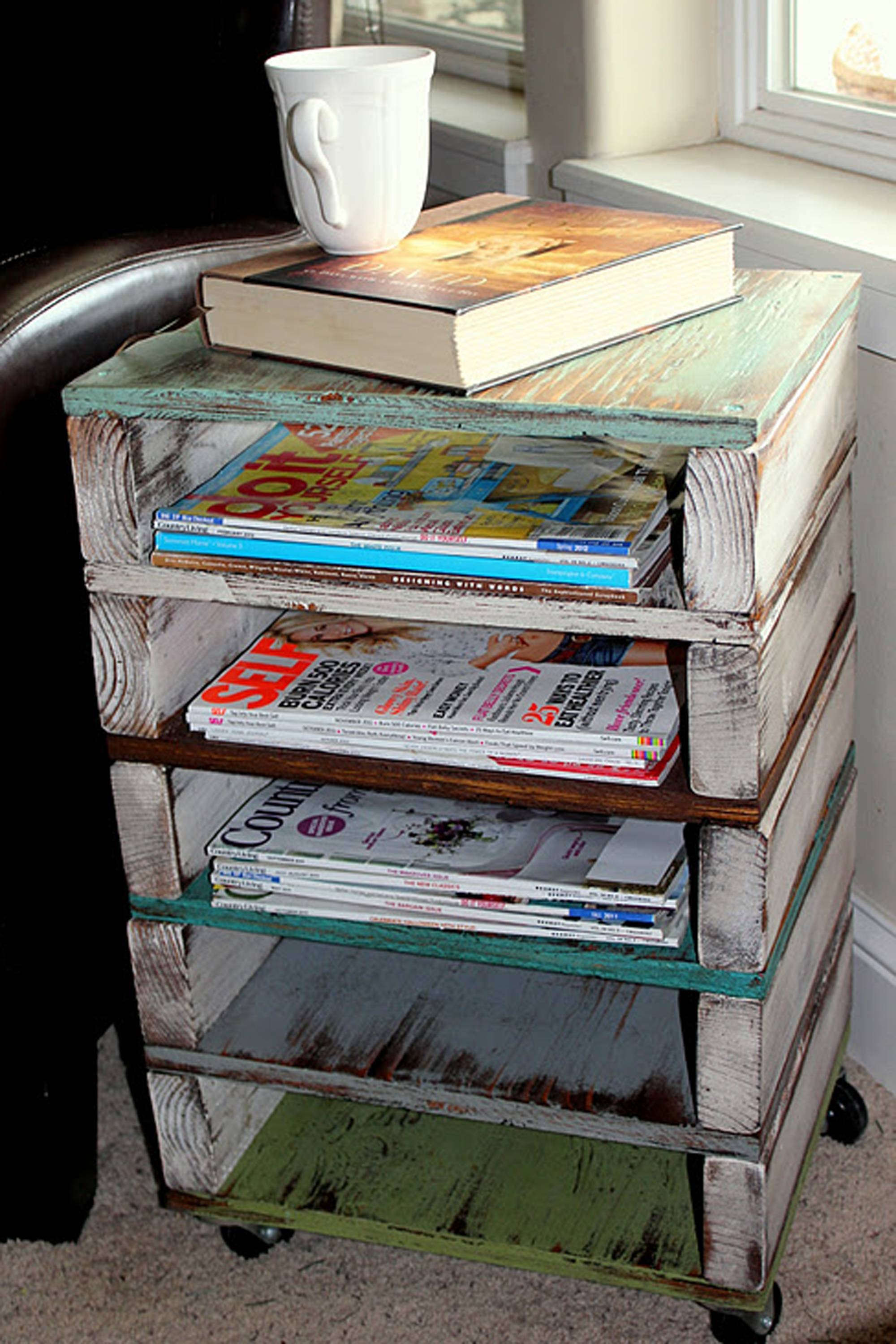Diy Magazine Rack Coffee Table | Diy & Dry Pictranslator throughout Coffee Tables With Magazine Storage (Image 13 of 30)