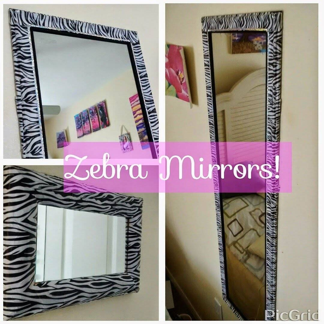 Diy Mirror Decor/ Revamp - Youtube within Glitter Frame Mirrors (Image 10 of 25)