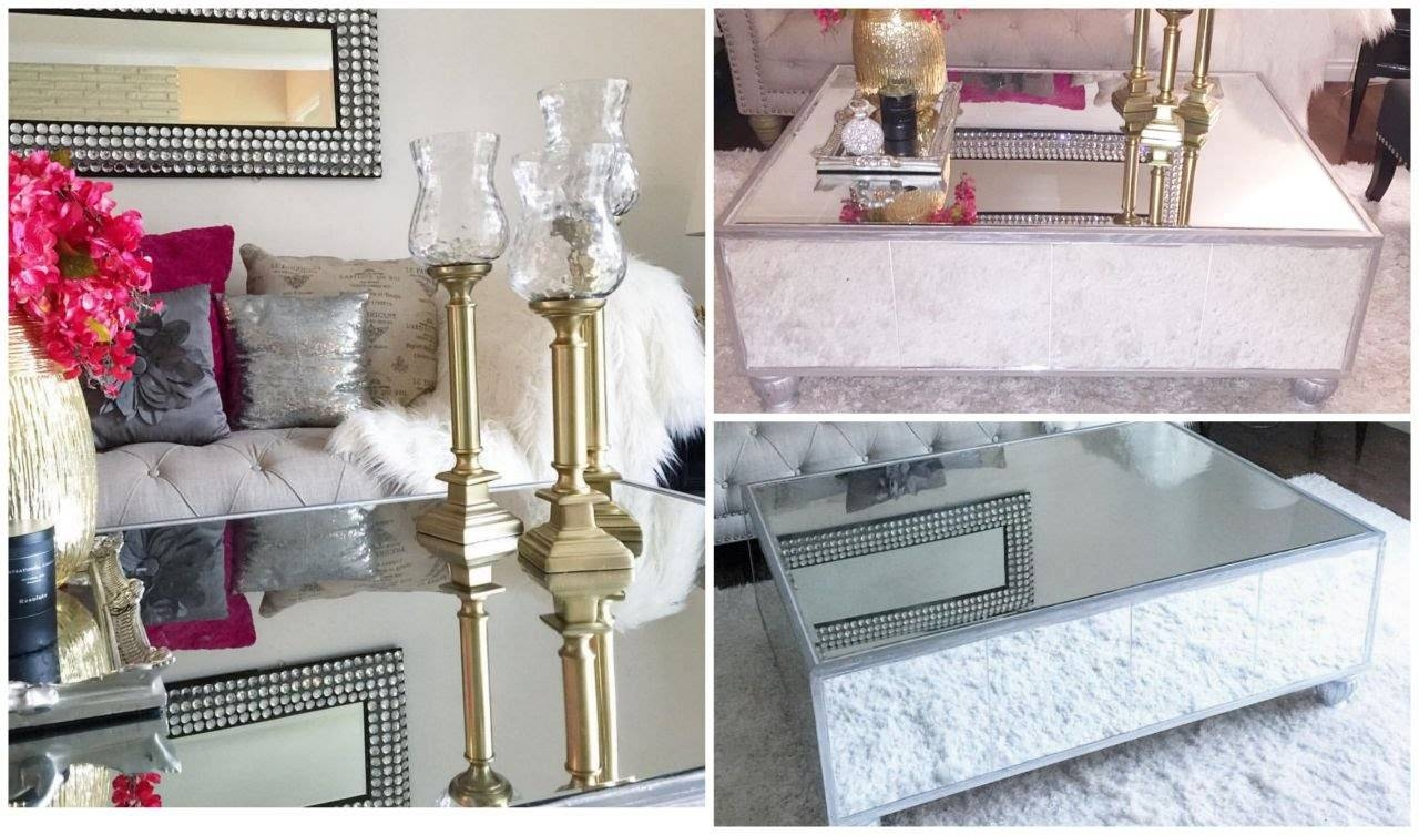 Diy Mirrored Coffee Table- Haz Tu Mesa De Espejo - Youtube intended for Coffee Tables Mirrored (Image 10 of 30)